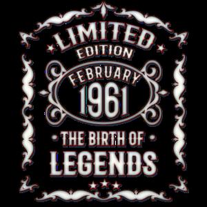 Februar 1961 Geburtstag 1961 Geschenk