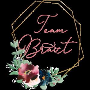 Team Braut Floral Geometrik personalisierbar