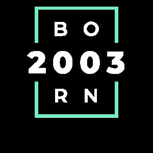 Modernes Born 2003 Design Geburtstag