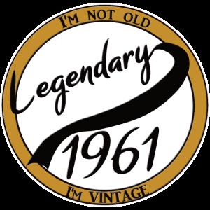 Legendary 1961 60. Geburtstag Geschenk
