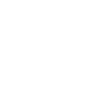 Letter Q white