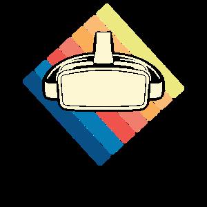 Retro Vintage VR Spieler Virtual Reality Gamer