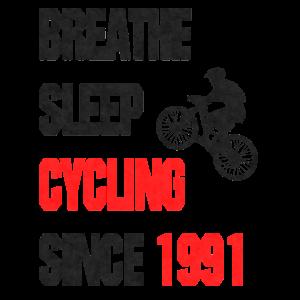 Geschenk Radfahrer 1991 lustiger Spruch