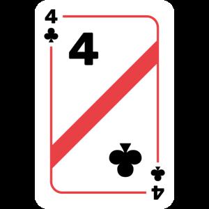 Kreuz Vier Spielkarte Pokerkarte
