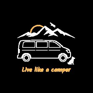 live like a camper, Van, Bus, Geschenk, Berg,