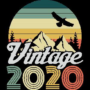 Vintage 2020 20 Geburtstag Retro Jahrgang Geschenk