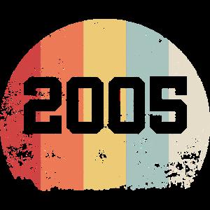 Vintage 2005 05 Geburtstag Retro Jahrgang Geschenk