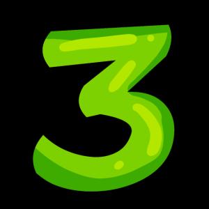 Ziffer 3 Grün