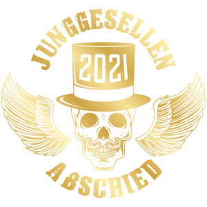 Junggesellen Abschied Totenkopf 2021 Gold