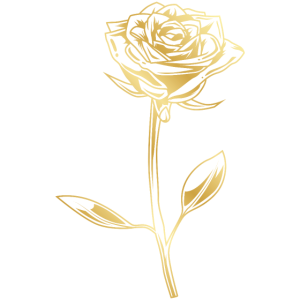 Rose Symbol Gold Blume Silhouette