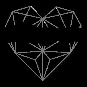 Lieblingspapa - Herz geometrisch 01