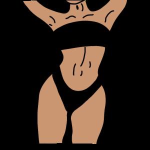 Frau in Bikini