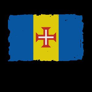 Flag of Madeira - Madeira Flagge - Shabby look