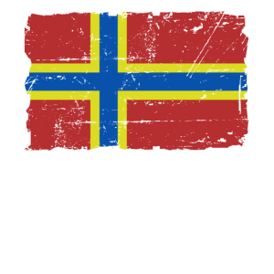 Flag of Orkney - Orkney Flagge - Shabby look