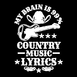 99% Country Music Lyrics Liebhaber Geschenk