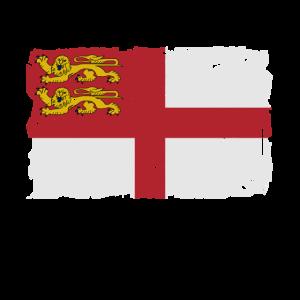 Flag of Sark - Sark Flagge - Shabby look