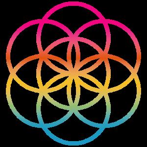 Yoga Regenbogen bunt Meditation Mandala Indien