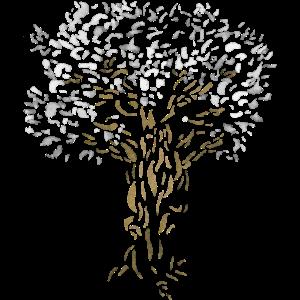 Baum - Esche / Weltenbaum Natur Aquarell Malerei