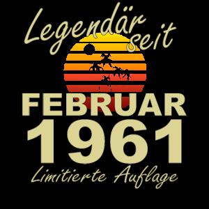 Legendär Februar 1961 Jahr Geburtstag Geschenk