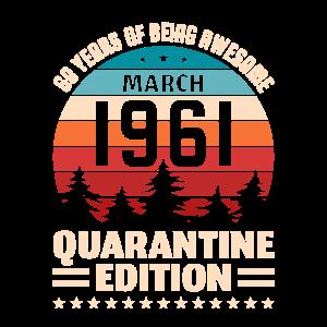 60. Geburtstag Geschenk März 1961 60 Jahre