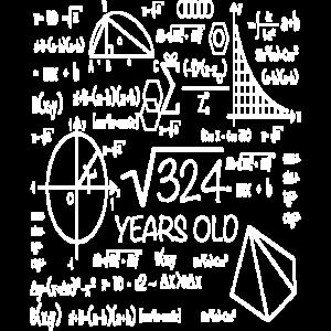 18. Geburtstag Mathematik Schulkinder Geschenk