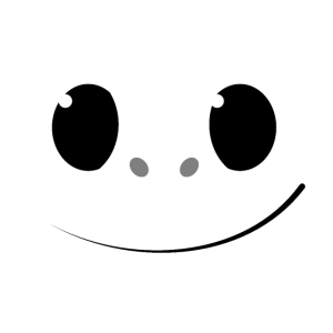 Süßes Monster Gesicht Kreatur Zähne Kind & Kinder