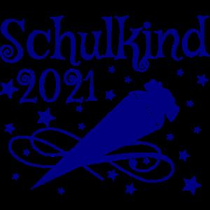 Schulkind 2021 Schultüte 21 Shirt Einschulung 2021