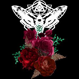 Nacht Blumen Gothik goth Totenkopf Tod Skull Punk