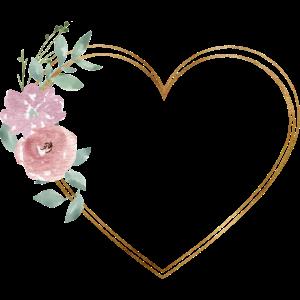 Herz Blumen personalisierbar