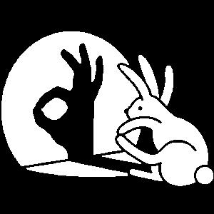 Kaninchen Schatten Hand OK Geste Zeichen Okay pico bello