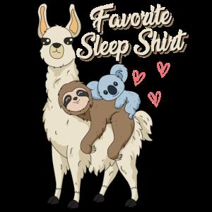 Schlafen Schlafshirt lustiger Spruch mit Koala