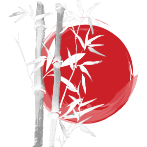 Japan Asien Bambus Sonne Kanji einfach Natur