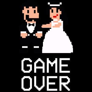 Hochzeit - Pixel Retro - Game Over - Brautpaar