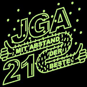 Mit Abstand der beste JGA 2021