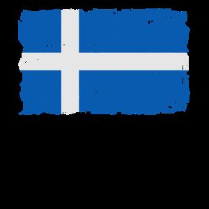 Flag of Shetland - Shetland Flagge - Shabby look