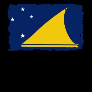 Flag of Tokelau - Tokelau Flagge - Shabby look