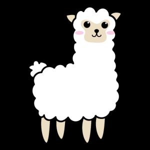 Süßes Lama niedliches Alpaka Llama Alpaca Schaf