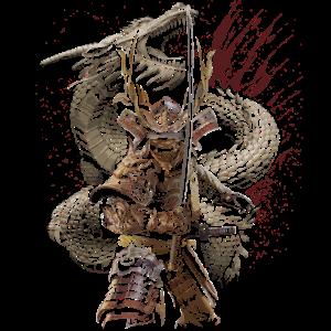 Samurai japan asiatisch drache geschenk