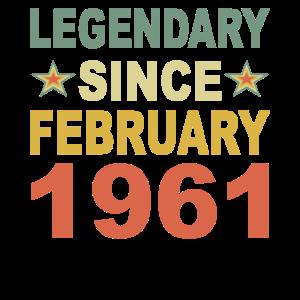 Legendär seit Februar 1961 Geburtstag Geschenk