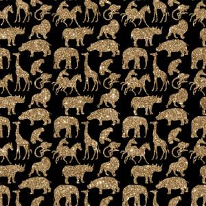 Wild Animal Safari Elegante Golden Glitter funkeln