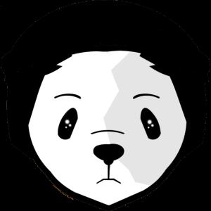Panda mit Headset