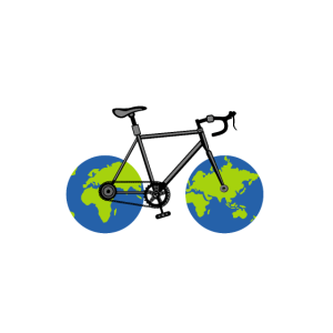 Comic - Globus Fahrrad - Planet Erde