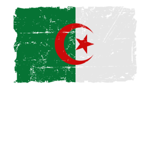 Flag of Algeria - Algerien Flagge - Shabby look