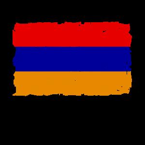 Flag of Armenia - Armenien Flagge - Shabby look