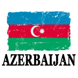 Flag of Azerbaijan - Aserbaidschan Flagge