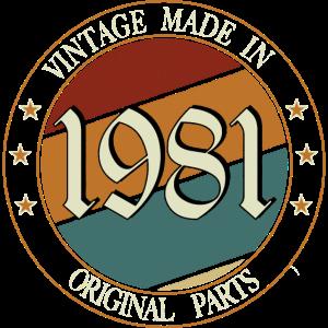 Vintage made in originale Parts 1981