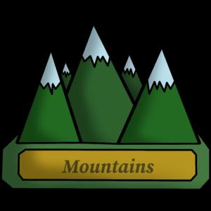 Berge - Linienkunst