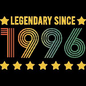 Vintage Legendary since 1996 Geburtstag Retro