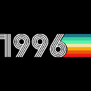 Vintage Retro 1996 Geburtstag Regenbogen