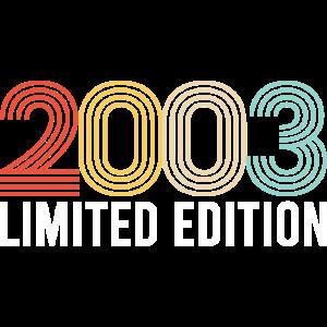 Top Vintage Design für 2003 Jahrgang. Geschenk für
